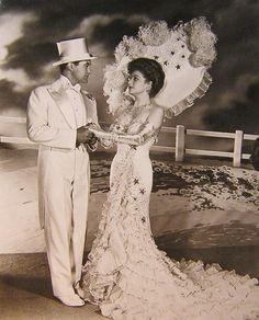 Dennis Morgan and Ann Sheridan - Shine On, Harvest Moon 1944 wearing Joseff of Hollywood jewelry.