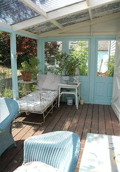 Decorating is a great way to make your outdoor space more appealing. There are many ways to made your patio area a relaxing and peaceful retreat. Creative and Peaceful Patio Ideas: Colorful textil… Outdoor Furniture Sets, Garden Room, Outdoor Decor, Home, Outdoor Spaces, Outdoor Space, Beach House Decor, Decks And Porches, Sleeping Porch