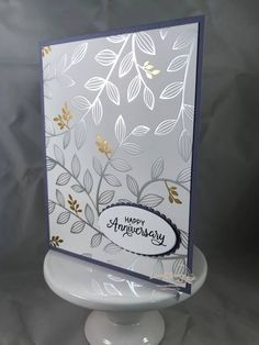The second run of Sale-A-Bration items is just what you need. Today's post is all about the beautiful Springtime Foils Specialty Designer Series Paper. The new br… Birthday Cards For Women, Happy Birthday Cards, Happy Birthdays, Birthday Images, Birthday Quotes, Birthday Greetings, Birthday Wishes, Foil Paper, Paper Cards