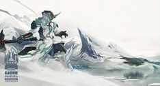 Warframe: Interloper in Frost's Territory, Liger Inuzuka on ArtStation at https://www.artstation.com/artwork/mm92Z