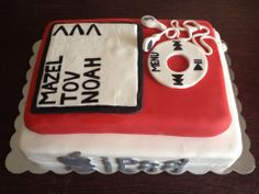 Noah's Bar Mitzvah Technology themed cake! His whole Bar Mitzvah is tech themed!!!