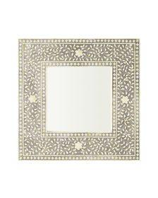 Square Maya Inlay Mirror