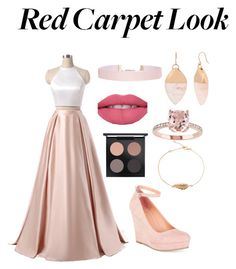 """""""Pinkish-Nude Red Carpet Look"""" by julia-295 ❤ liked on Polyvore featuring Material Girl, MAC Cosmetics, Kenneth Cole and Humble Chic"""