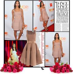 """Zoe Saldana arrives to The Trevor Project's 'Trevor Live' event honoring singer Katy Perry at the Hollywood Palladium on December 2, 2012 in Hollywood, California"" by alessia3012 ❤ liked on Polyvore"