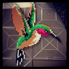 Hummingbird perler beads by myfeetguideme