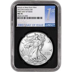 BLACK CORE Mint 2017 AMERICAN SILVER EAGLE NGC MS70 EARLY RELEASES 1oz Coin
