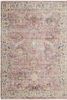 A contemporary interpretation of traditional rug artistry, this Illusion area rug indulges mod decor preferences with archival floral blooms in marvelous fashion-now colors. A palette of rose and cream tones impart warm, old world character, with. Tapete Floral, Floral Rug, Transitional Area Rugs, Cream Area Rug, Cream Roses, Traditional Rugs, Dresses With Leggings, Surf Shop, Rugs Online