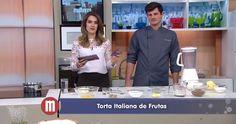 #fabulososnamidia #restaurantesãoroque #gastronomiaitaliana #italianrecipe #italianfood #italianrestaurant - Chef Franco Bruzzone, do Stefano Hotel e Restaurante | Mulheres| TV Gazeta | Torta de Frutas | Janeiro de 2016.