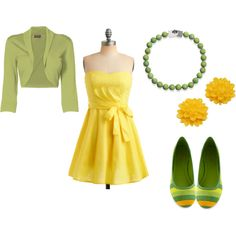 Cute yellow and green outfit