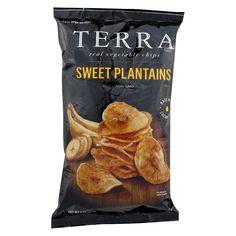 Terra Chips Veggie Chips - Sweet Plantains - Case Of 12 - 5 Oz Country of origin : Honduras Size : 5 OZ Pack of : 12 Product Selling Unit : case Vegan Snacks, Easy Snacks, Yummy Snacks, Snack Recipes, Crisps Brands, Vegan Chips, Vegetable Chips, Food Packaging Design, Potato Chips