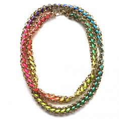 Neon cord with brass chain