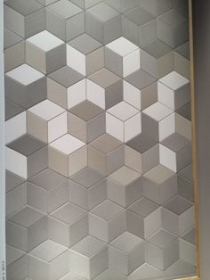 www.mutina.it at I Salone Milano I love these tiles which are smooth and matt and ceramic. This shows 3 colour ways on one board.  For floors and walls. LOVE THESE Photo by the interiorista