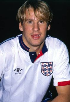 13 September 1988 England v Denmark Under 21 International Football Paul Merson' Photo Mark Leech / Getty Images Retro Football, Vintage Football, Football Cards, Football Team, England International, International Football, England Kit, England Football Players