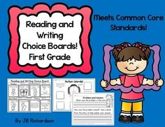 Research shows that children need choice in what they read and write!  This packet includes four choice boards with common corealigned activities.