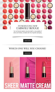 INTRODUCING NEW L'ABSOLU ROUGE - SHOP NOW