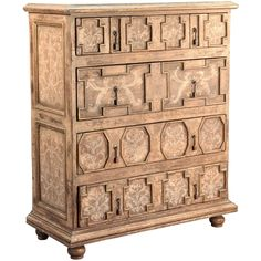 Furniture::Chests & Dressers::Scroll Painted Spanish Mission Chest