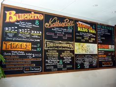 I am a huge fan of chalkboard menus! Custom create a chalkboard menu that suits your restaurant. Seal the chalk art with a spray and leave the specials to your employees to change daily! Functional art!