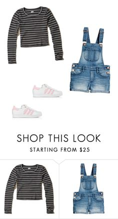 """Untitled #415"" by austynh on Polyvore featuring Hollister Co. and adidas"