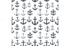 Anchors seamless background by OneVectorStock on Creative Market Retro Background, Seamless Background, Script Type, Creative Sketches, Paint Markers, Pencil Illustration, Business Brochure, Anchors, Graphic Design