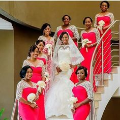 @femmefataleaccesories and her girls looked radiant in this photo! Love it!  Bridesmaids dresses by @topefnr  Bride's dress by @pronovias  Photo by @jotphotography  #bride #bridal #bridalinspiration #weddings #weddinginspiration