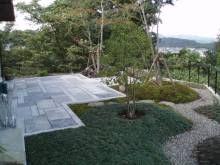 造園工事施工例 夜景の望める庭