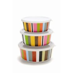 French Bull Cabana Stripe Storage Container Set - 052SCS