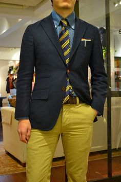 I am loving the colored pants for men trend. Do I wear them...no..lol, but I think its great! #MensFashion