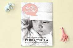 Baby Talk by Laura Condouris at minted.com