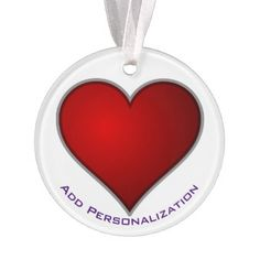 Create Your Own Christmas or Valentine's Day Heart Ornament - heart gifts love hearts special diy