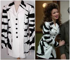 What Fran Wore: Vintage Moschino black and white jacket