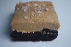 Brownies with Salted Peanut Butter Cream & A Winner - Blue-Eyed Bakers - Blue Eyed Bakers