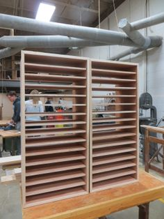 High school woodshop students are creating these storage units for the elementary school iPads. Each unit takes a day to make, students said. About three dozen of them will be made. Ipad Storage, Storage Units, Storage Ideas, 2nd Grade Classroom, 3rd Grade Math, Science Classroom, Classroom Organization, Classroom Ideas, Middle School