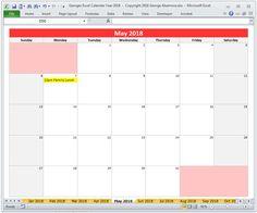 2017 excel monthly calendar