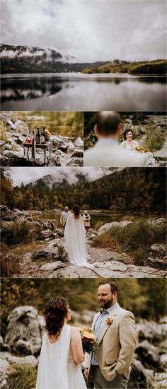 Melissa & Shane travelled to Germany for this intimate lakeside elopement in the Bavarian Alps on the banks of the beautiful Lake Eibsee. Mountain Elopement, Elopement Inspiration, Germany Travel, Alps, Elopements, Couple Photos, Cant Wait, Wolf, Beautiful