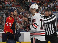 Yeah they were gonna go. Patrick Sharp- Chicago Blackhawks v Florida Panthers