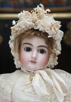 "25"" (64 cm) Antique French Bisque Bebe Doll by Jullien, c.1895 Antique dolls at Respectfulbear.com"