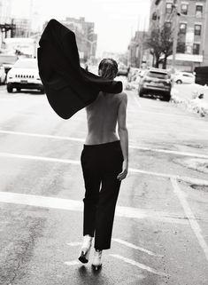 Comme Un Garçon Publication: Lui France March 2017 Model: Samantha Gradoville, Flavia Lucini Photographer: David Bellemere Fashion Editor: Anya Ziourova Hair: Ward Stegerhoek Make Up: Serge Hodonou