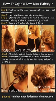 Twisted Low Bun Hair Tutorial