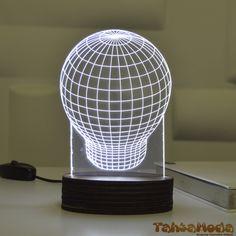 Tahtamoda 3D 3 Boyutlu Dekoratif Led Lamba Balon - tht3d6