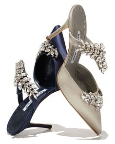 de2247bb4b1 Manolo Blahnik Lurum Crystal-Embellished Mule Pump  ManoloBlahnik Shiny  Shoes