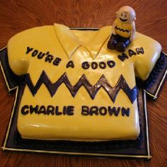 Charlie Brown cake for my little Charlie browns first birthday! Too cute!