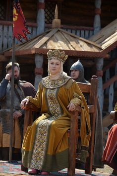 """""""The Golden Horde"""" production still Renaissance Clothing, Medieval Fashion, Medieval Costume, Medieval Dress, Historical Costume, Historical Clothing, Mode Russe, Fair Outfits, Russian Culture"""