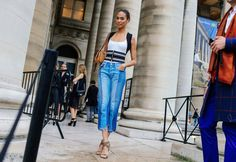 Phil Oh's Best Street Style Pics From the Paris Haute Couture Shows Street Style 2016, Summer Denim, Joan Smalls, Couture Week, Street Outfit, City Style, Cool Street Fashion, Fashion Lookbook, Sexy Outfits