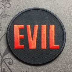 EVIL patch Embroidered Iron On Patches sew on patches Punk patches