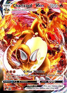 Charizard VMax (Dynamax) Custom Pokemon Card – ZabaTV Pokemon Cards Legendary, All Pokemon Cards, Pokemon Trading Card, Pokemon Card Packs, Pokemon Fusion Art, Type Pokemon, O Pokemon, Pokemon Stuff, Pokemon Cards Charizard