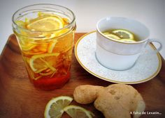 Improve Your Immune System with Ginger, Lemon and Honey Tea - Delicious Chocolate, Chocolate Desserts, Ginger Lemon Honey Tea, Ginger Syrup, Nutrition, Healthy Life, Peanut Butter, Smoothie Recipes, Smoothies