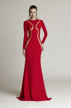 Cristina Savulescu - Look 22 Sexy Dresses, Beautiful Dresses, Nice Dresses, Evening Dresses, Long Dresses, Design Your Own Dress, Festa Party, Red Gowns, Going Out Dresses