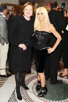 Versace Celebrates SoHo Store Opening - Glenda Bailey and Donatella Versace
