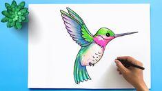 Art Drawings Sketches, Easy Drawings, Hummingbird Drawing, Flower Art Drawing, Easy Canvas Art, Art Drawings Beautiful, Online Drawing, Doodle Art, Amazing Art