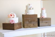 Cake Stands Set Of Three Rustic Wedding Decor (Item Number 140089) on Etsy, $199.00